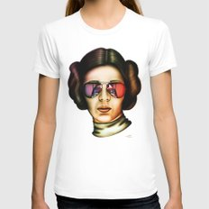 STAR WARS Princess Leia  Womens Fitted Tee White X-LARGE