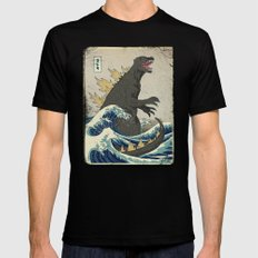 The Great Godzilla off Kanagawa MEDIUM Mens Fitted Tee Black