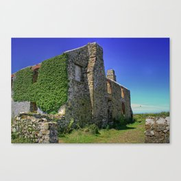 Old ruined Farmhouse Canvas Print