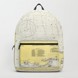 Vintage Map of The Gulf of Mexico (1942) Backpack