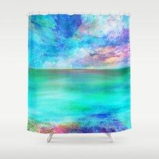 Ocean at Sunrise Shower Curtain