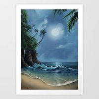 neverland Art Prints featuring Neverland by CERRIX
