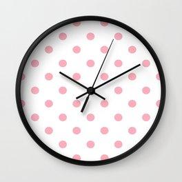 Polka Dots in Pink Wall Clock