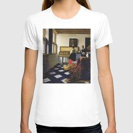 Johannes Vermeer  - The Music Lesson T-shirt