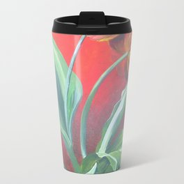 Red and Yellow Tulips Travel Mug
