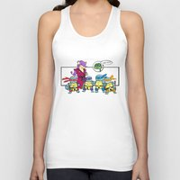 squirtle Tank Tops featuring ninja squirtle by tama-durden