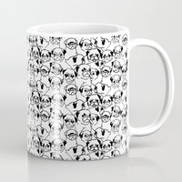 pugs Mugs featuring Oh Pugs by Huebucket