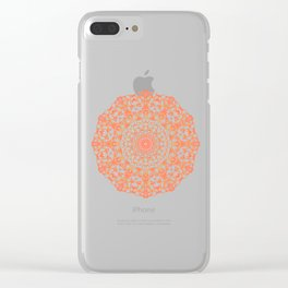 Mandala 12 / 4 eden spirit orange Clear iPhone Case