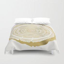Douglas Fir – Gold Tree Rings Duvet Cover