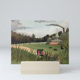 Landscape and Four Young Girls, Henri Rousseau, 1895 Mini Art Print