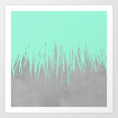 Fringe Concrete Mint Art Print