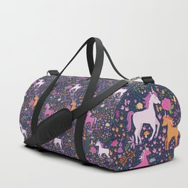Unicorns Dancing in an Enchanted Garden Duffle Bag