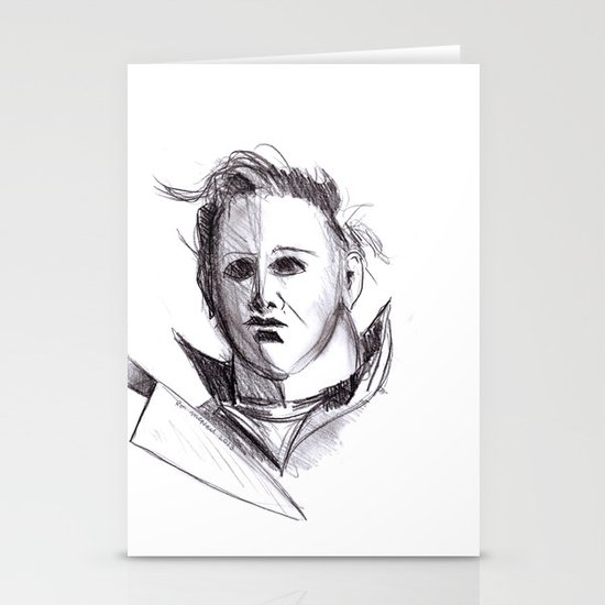 Micheal Myers  Stationery Cards