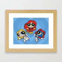 Sisterhood of Evil Puffs Framed Art Print