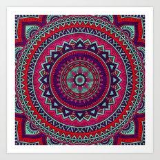 Hippie mandala 26 Art Print