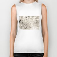 cherry blossoms Biker Tanks featuring cherry blossoms by hannes cmarits (hannes61)