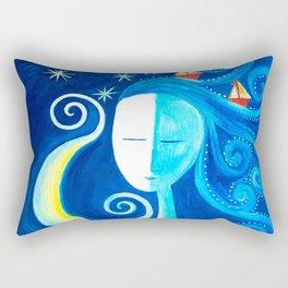 Mar en el cabello Rectangular Pillow