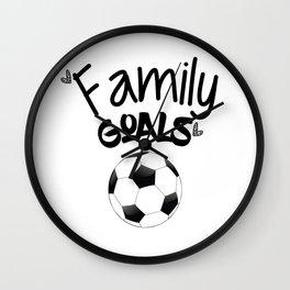 Family Goals Soccer shirt for mom Wall Clock
