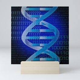 DNA Identity Blue Cool Science Graphic Mini Art Print