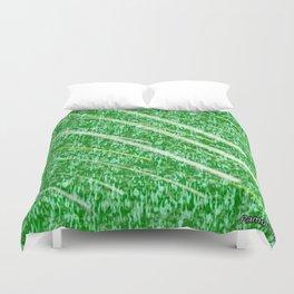 Green Streak Duvet Cover