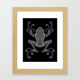 Intricate Dark Tree Frog Framed Art Print