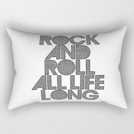 Rock and rol all life long! Rectangular Pillow