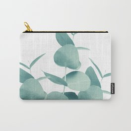 Eucalyptus Leaves Green White #1 #foliage #decor #art #society6 Carry-All Pouch