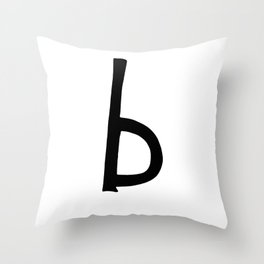 B Monogram (Hand 2) Throw Pillow