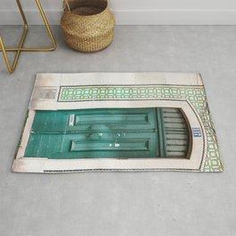 Tiled Green Door Rug