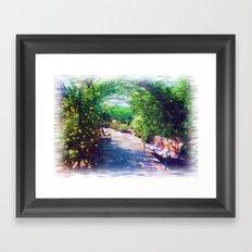 Rosy Bower Framed Art Print