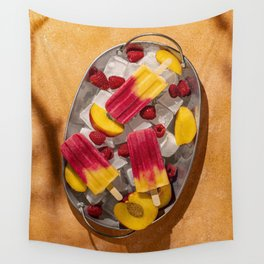 Summer fruity popsicles Wall Tapestry