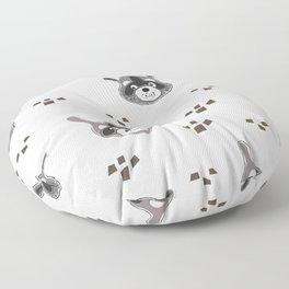 Raccoons Floor Pillow