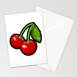 Checkered Cherries Stationery Cards
