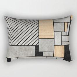Random Pattern - Concrete and Wood Rectangular Pillow