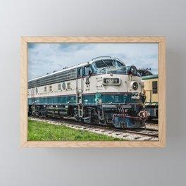 BN-1 EMD Diesel Electro Motive Train Locomotive Vintage Railroad Engine Framed Mini Art Print