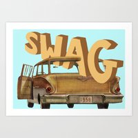 swag Art Prints featuring swag  by professional doodler