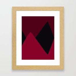 Maroon Hills Framed Art Print