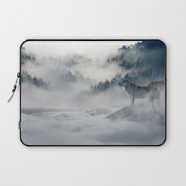 Wolves Among the Snowcapped Mountain Laptop Sleeve