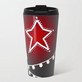 Cactus christmas tree with red star Travel Mug