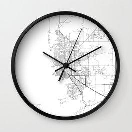 Minimal City Maps - Map Of Boulder, Colorado, United States Wall Clock