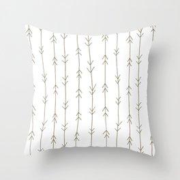 Arrow Pattern: Mud Brown Throw Pillow