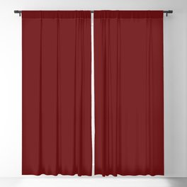 Merlot Red Solid Color Trend Autumn Winter 2019 2020 Blackout Curtain