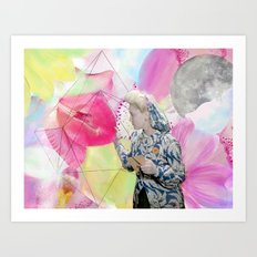 FLOWERS OR LOVERS Art Print