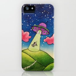 Cow Abduction iPhone Case