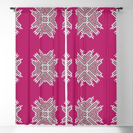 Cross Study In Pink and Grey Blackout Curtain