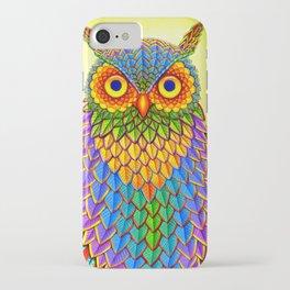 Colorful Rainbow Owl iPhone Case