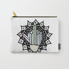 Middle Finger Mandala (Crystal) Carry-All Pouch
