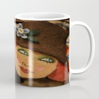 backpack Mugs featuring Backpack by Callieen