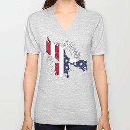 USA Flying Eagle Gift design for Americans Who Love America Unisex V-Neck