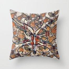 """Butterfly Mosaic Pattern"" Throw Pillow"